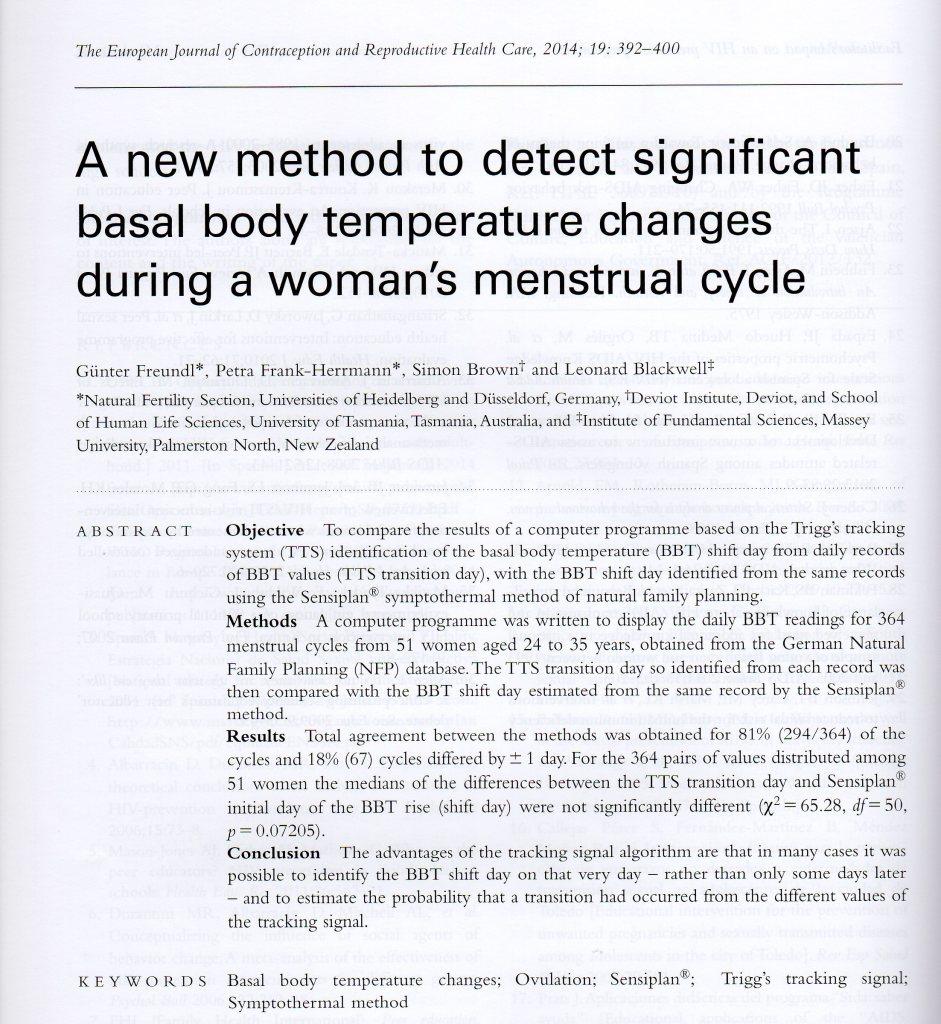 Basaltemperatur - Studie - Triggs System