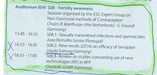 fertility awarness congress 2014 - ursula sottong