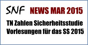 Sektion Natürliche Fertilität News März 2015